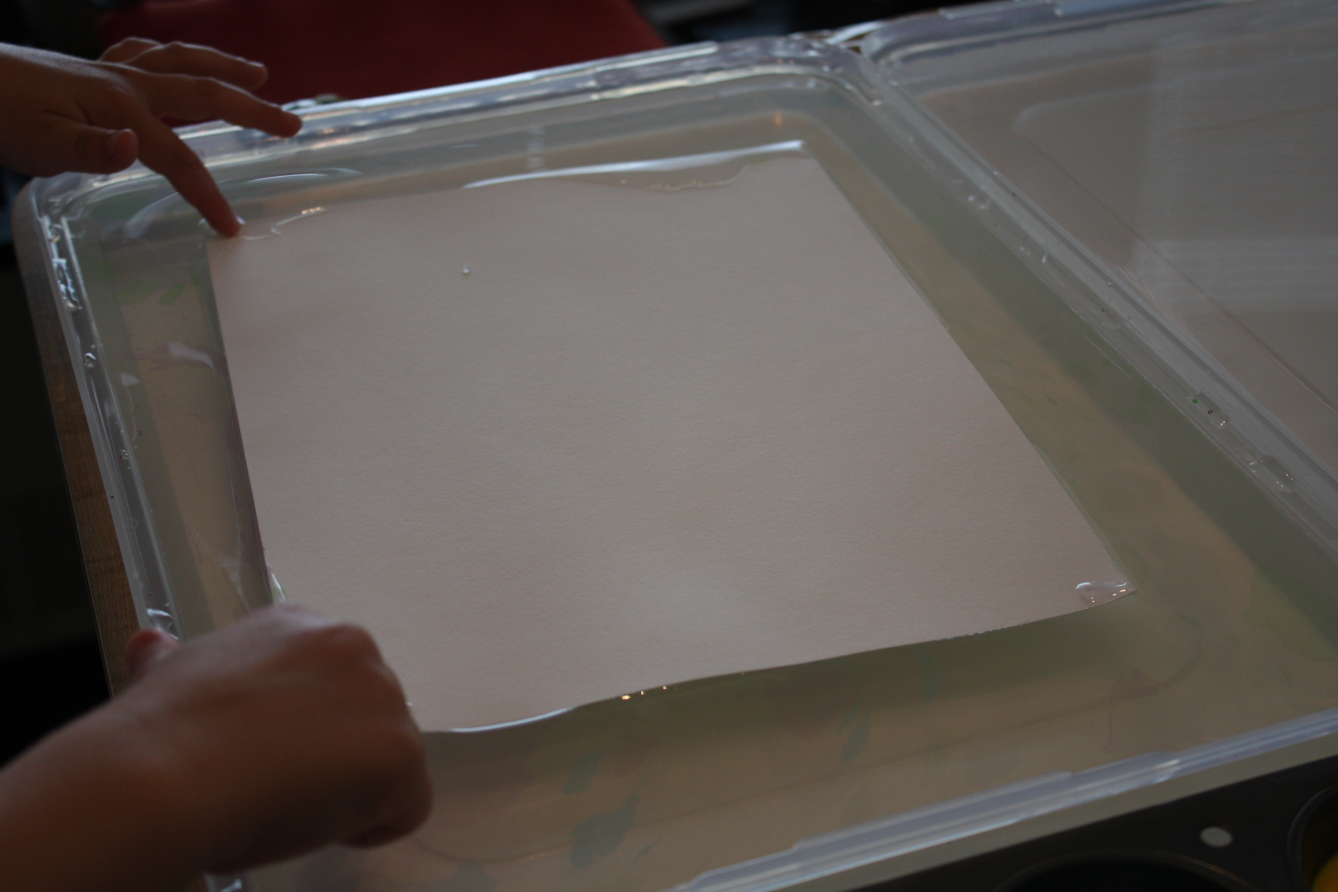 Put the paper alum side down on top of the size